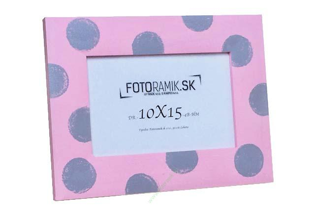 DR 10X15 4B-HM-GREY DOTS ON PINK