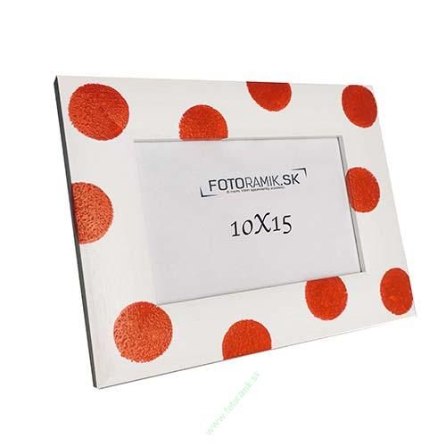 DR 10X15 4B-HM-RED DOTS ON WHITE