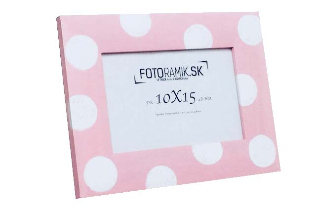 DR 10X15 4B-HM-WHITE DOTS ON PINK